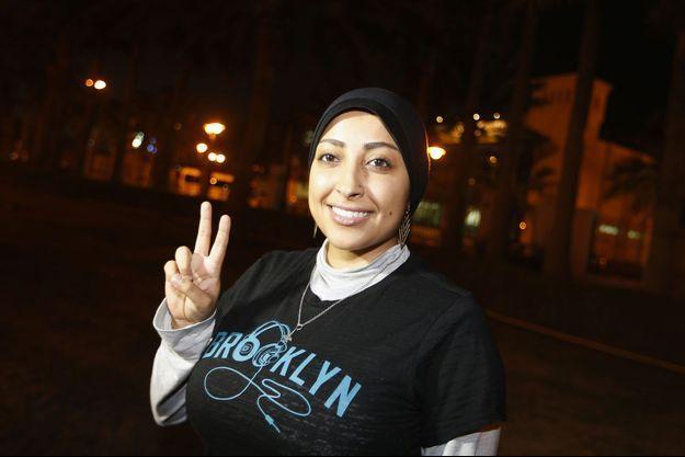 Maryam al-Khawaja à sa sortie de prison jeudi.