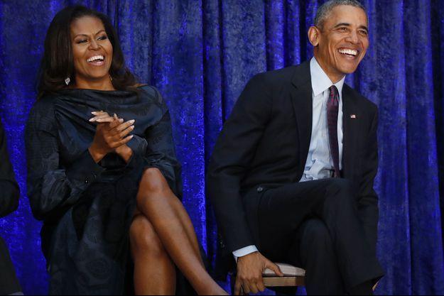 Michelle et Barack Obama en février 2018.