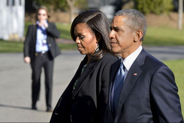 Michelle et Barack Obama en 2015.