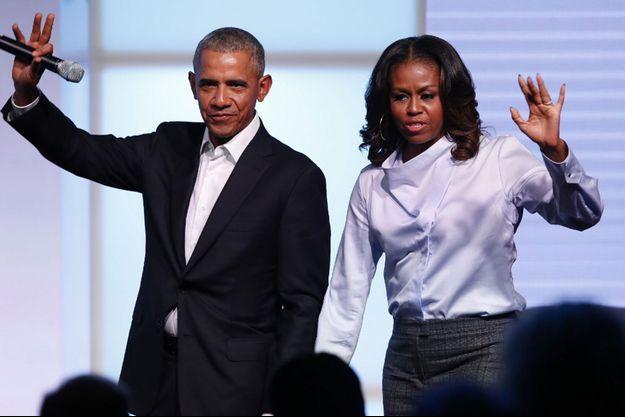 Barack et Michelle Obama en 2017.