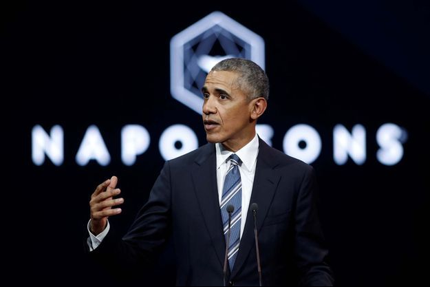 Barack Obama s'est exprimé samedi à l'auditorium de Radio France à Paris, à l'invitation des Napoleons.