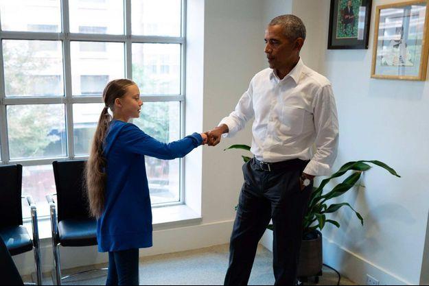 Greta Thunberg, Barack Obama