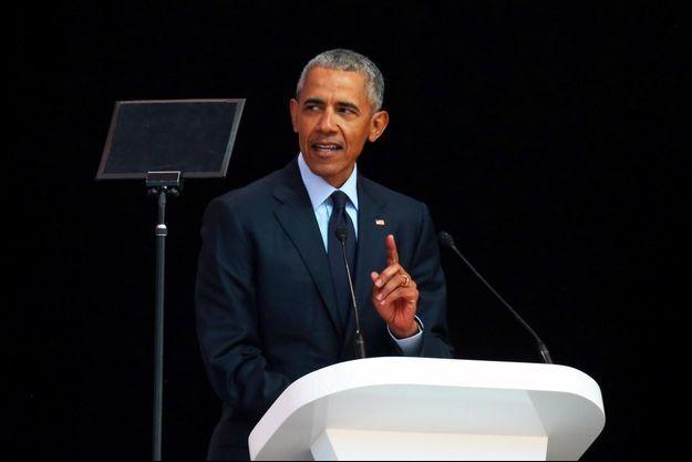 Barack Obama à Johannesburg, le 17 juillet 2018.