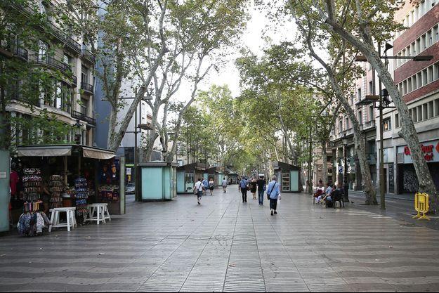 Les Ramblas de Barcelone.