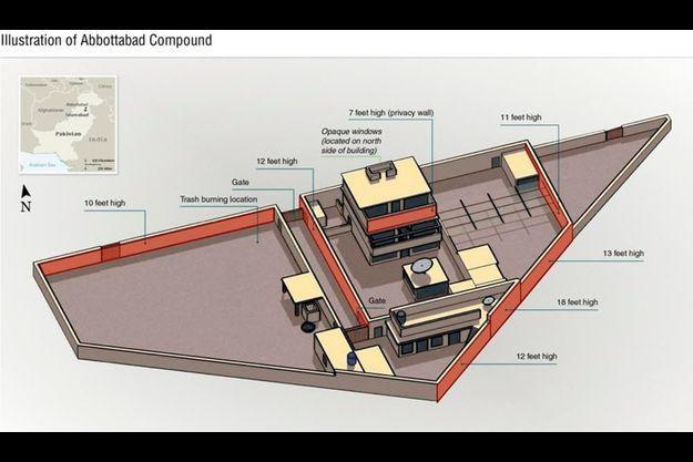 Une infographie de la résidence de Ben Laden.