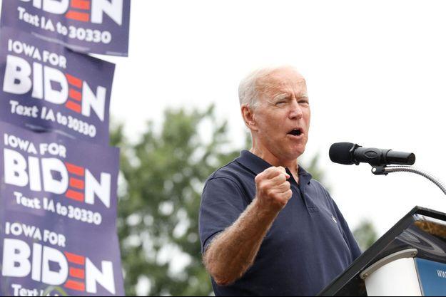 Joe Biden lors d'un meeting à Des Moines, en Iowa.