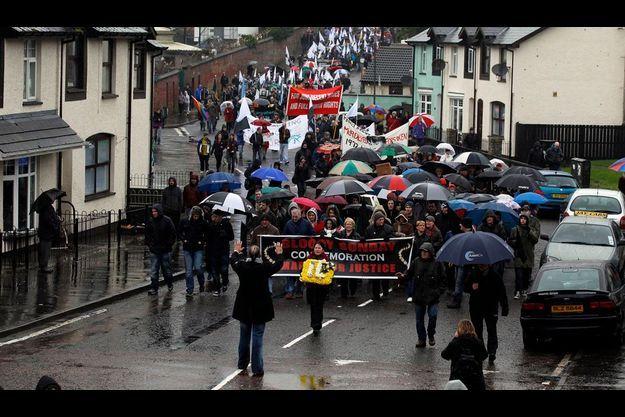 """Une marche pacifiste s'est déroulée le 30 janvier dernier pour commémorer le triste 40e anniversaire du """"Bloody Sunday""""."""