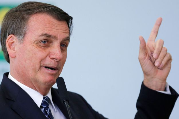 Le président brésilien Jair Bolsonaro à Brasilia jeudi.
