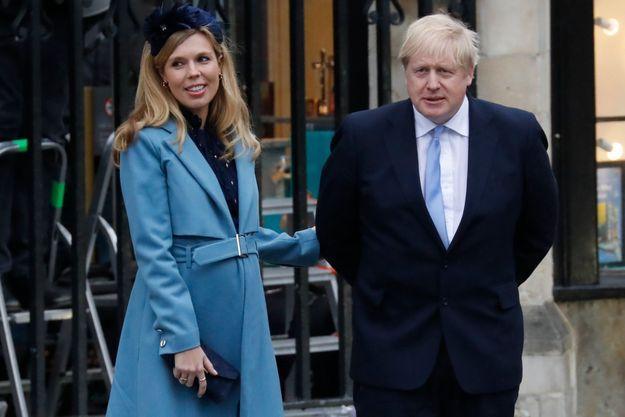 Boris Johnson et Carrie Symonds le 9 mars 2020 à Londres.