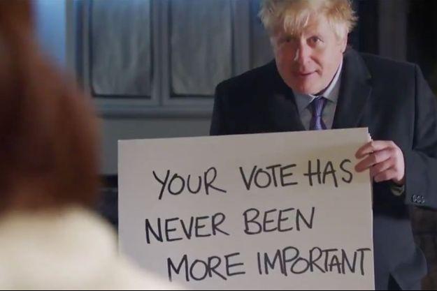 """Boris Johnson dans une parodie de """"Love Actually""""."""