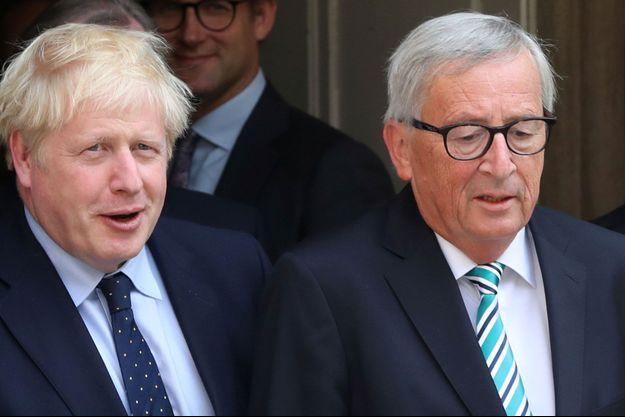 Le Premier ministre britannique Boris Johnson et le président de la Commission européenne Jean-Claude Juncker le 16 septembre au Luxembourg.