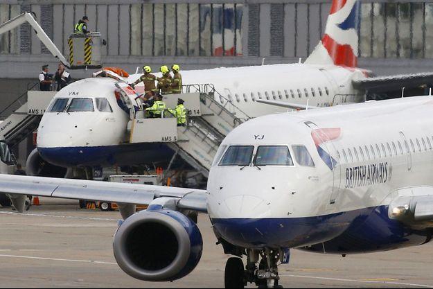 Des avions de la compagnie British Airways cloués au sol.