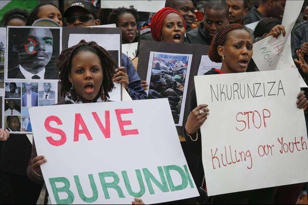 Une manifestation en faveur du peuple burundais à New York le 26 avril 2016.