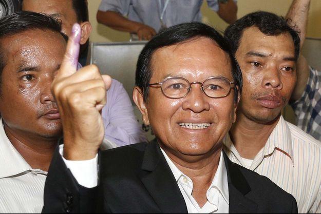 Le chef de l'opposition Kem Sokha en janvier 2017.