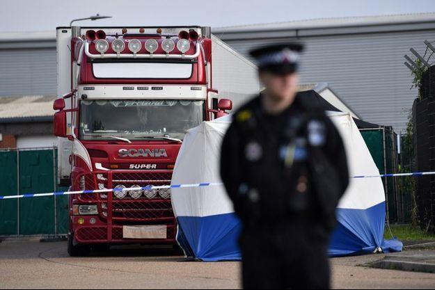Les 39 victimes ont été découvertes dans un camion à Grays, dans l'Essex, le 23 octobre 2019.