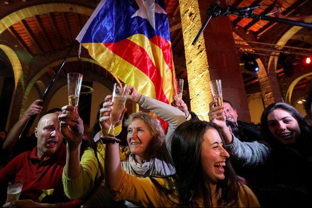 La joie des indépendantistes catalans.