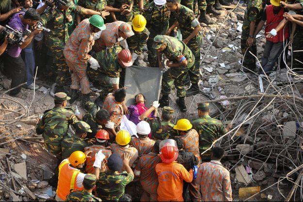 L'effondrement du Rana Plaza avait provoqué la mort de plus d'un millier de personnes.