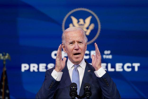 Joe Biden le 6 janvier 2021 à Wilmington, dans le Delaware.