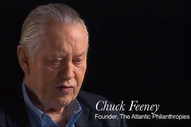 """Charles """"Chuck"""" Feeney sur une vidéo publiée par sa fondation en 2014."""