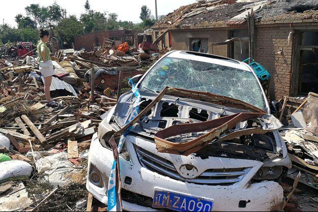 La ville de Kaiyuan a été touchée de plein fouet par la tornade.
