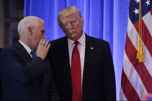 Donald Trump lors de sa conférence de presse à New York, le 11 janvier 2017.