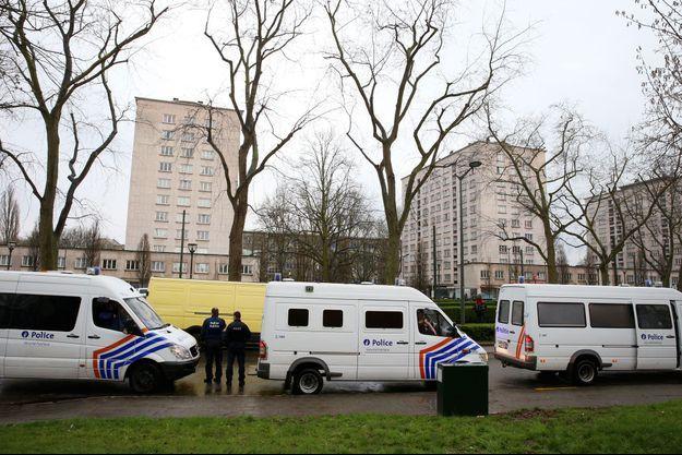 La police belge à Bruxelles.