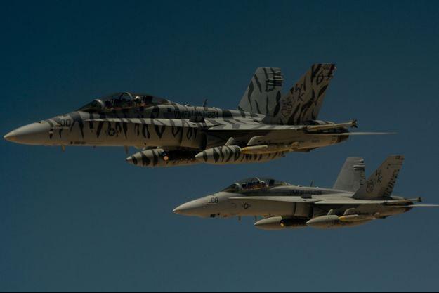 Deux avions américains membres de la coalition internationale (image d'illustration).