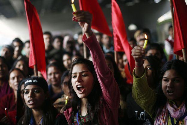 Des femmes rassemblées à New Delhi pour le premier anniversaire du viol de la fille de l'Inde (image d'illustration).
