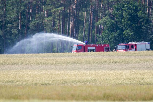Les pompiers sur le lieu de l'accident à Nossentiner Hütte le 24 juin 2019.