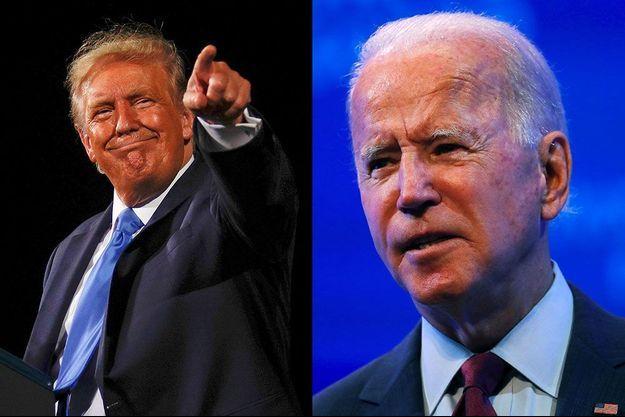 Donald Trump et Joe Biden.