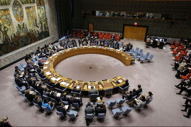 Le conseil de sécurité de l'ONU, lundi, lors d'une réunion sur la Corée du Nord, à New York.