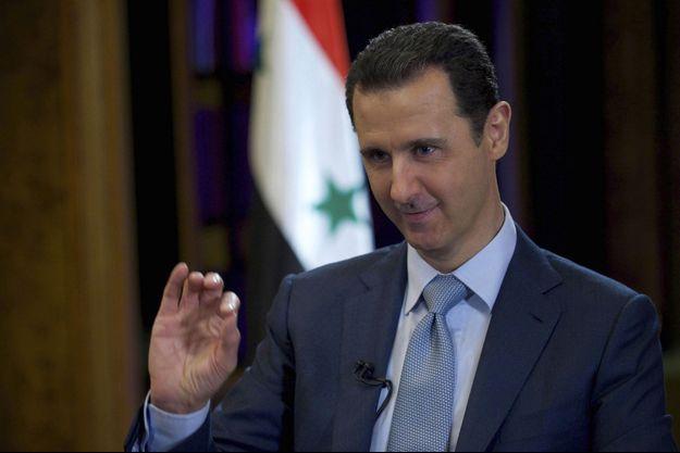 Bachar al-Assad à la télévision en février 2015