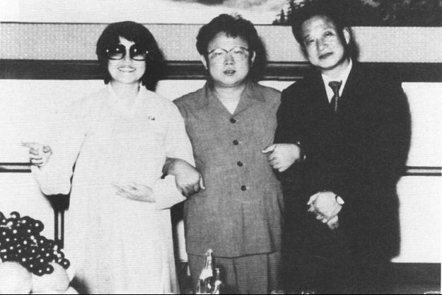 Le couple Choi & Shin avec Kim Jong-Il en 1983. Shin sortait de prison.