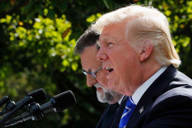 Donald Trump a de nouveau menacé la Corée du Nord lors d'une conférence de presse avec Mariano Rajoy.