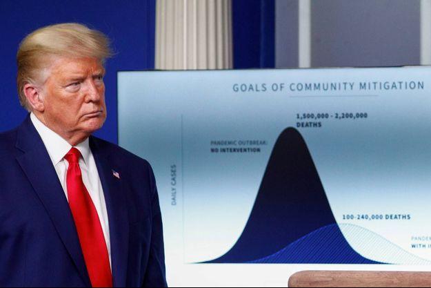 Donald Trump à la Maison-Blanche, le 31 mars 2020.