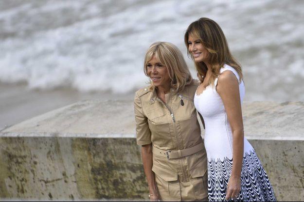Brigitte Macron et Melania Trump, en août dernier, à Biarritz, à l'occasion du G7.
