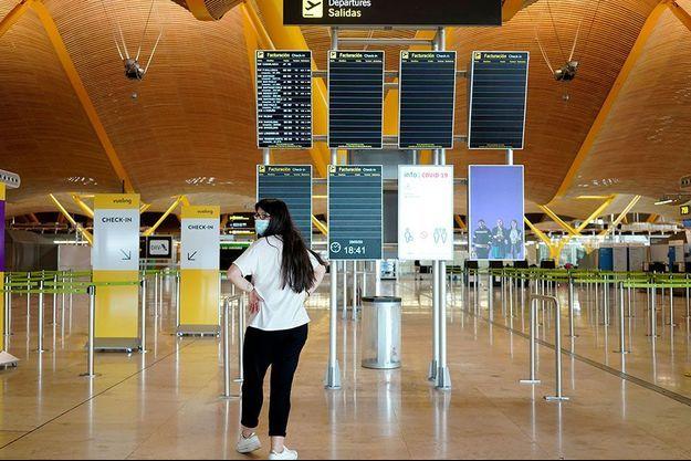 Ici fin mars, à l'aéroport international Adolfo Suárez Madrid-Barajas