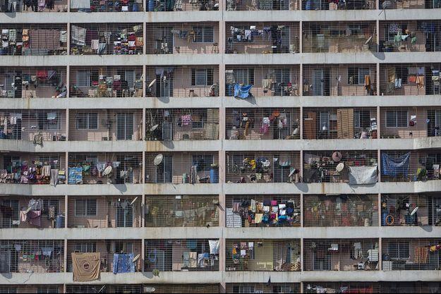 Un immeuble à Bombay.