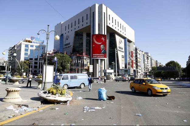 Dans les rues d'Ankara, le 16 juillet.