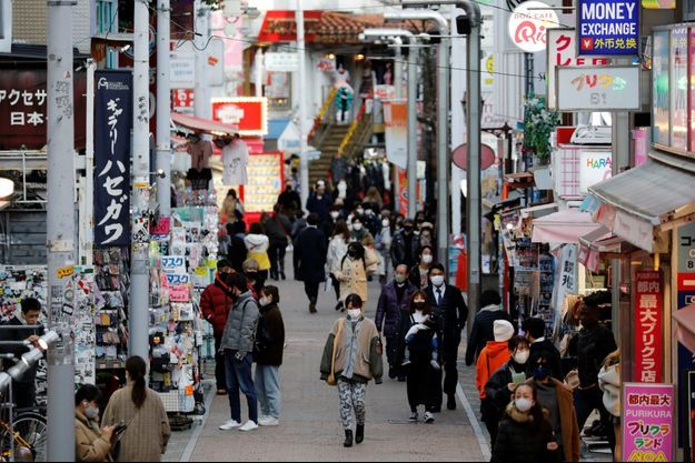 Une rue à Tokyo, où les cas de covid-19 ont bondi ces derniers jours.