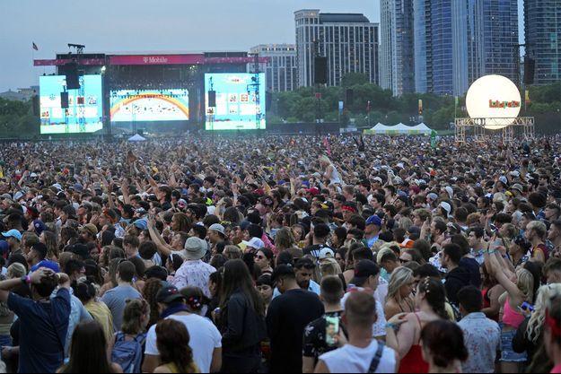 La foule présente à Chicago pour le deuxième jour du festival Lollapalooza.