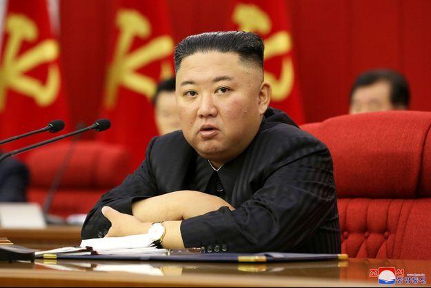 Kim Jong Un sur une photo diffusée par KCNA le 18 juin 2021.