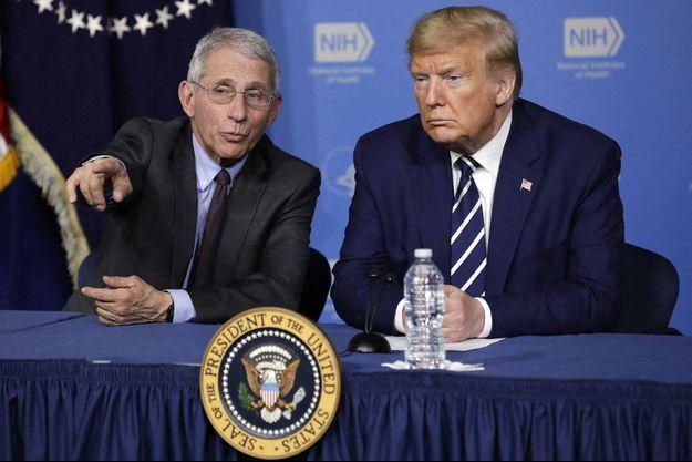 Donald Trump et Anthony Fauci en mars 2020.