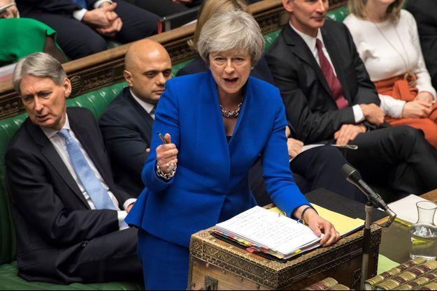 Theresa May au parlement le 19 décembre 2018.