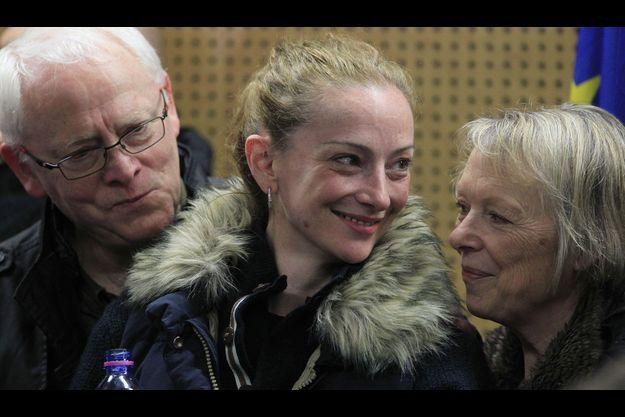Florence Cassez avec ses parents.