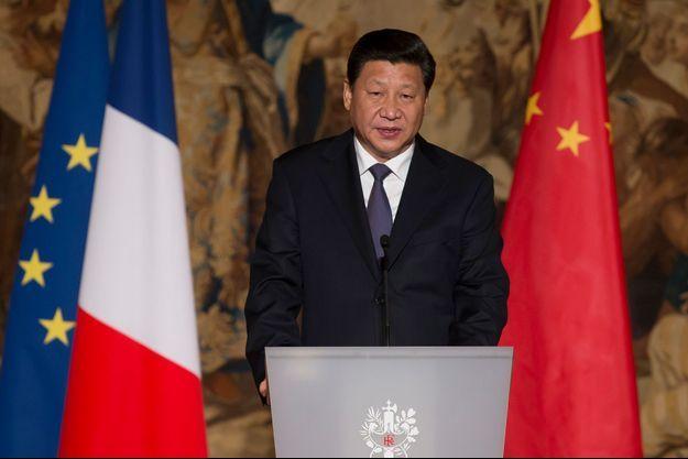 Xi Jinping lors du dîner d'Etat, le 26 mars dernier.