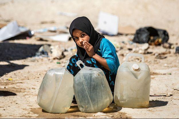 Une petite fille dans le camp d'Al-Hol, en août 2019.