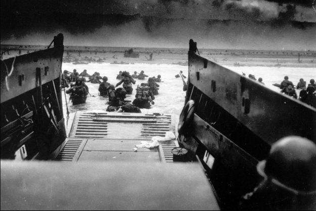 Photo prise lors du débarquement en Normandie le 6 juin 1944.