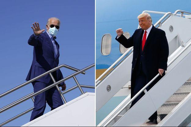 Joe Biden et Donald Trump en campagne.