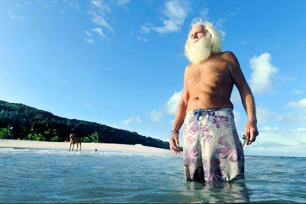 David Glasheen en 2010, sur son île.